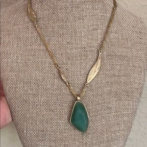 Gilded reed necklace